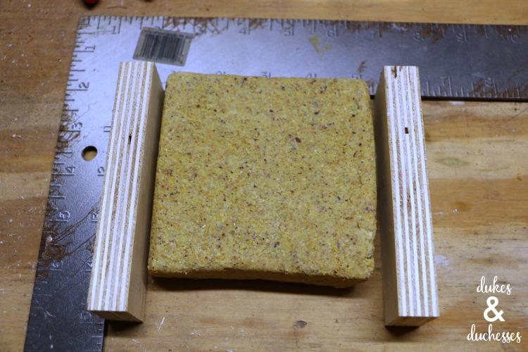 scrap wood bird feeder
