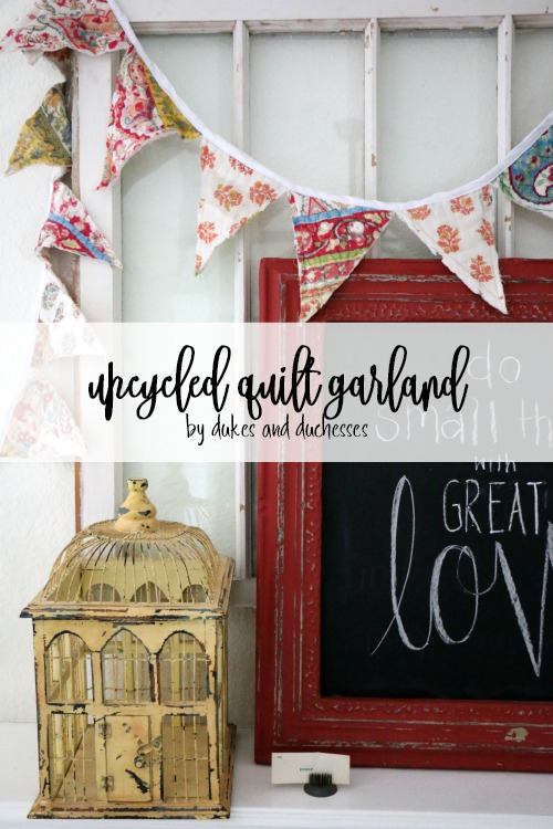 upcycled quilt garland