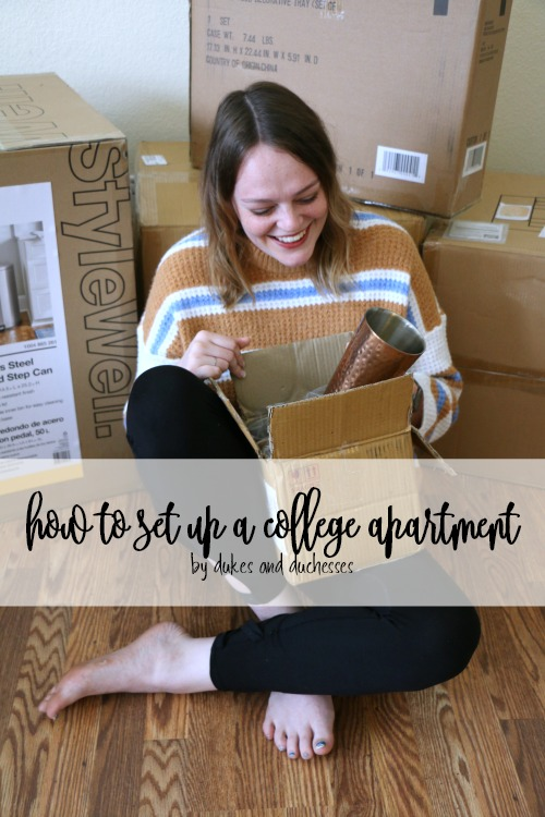 how to set up a college apartment