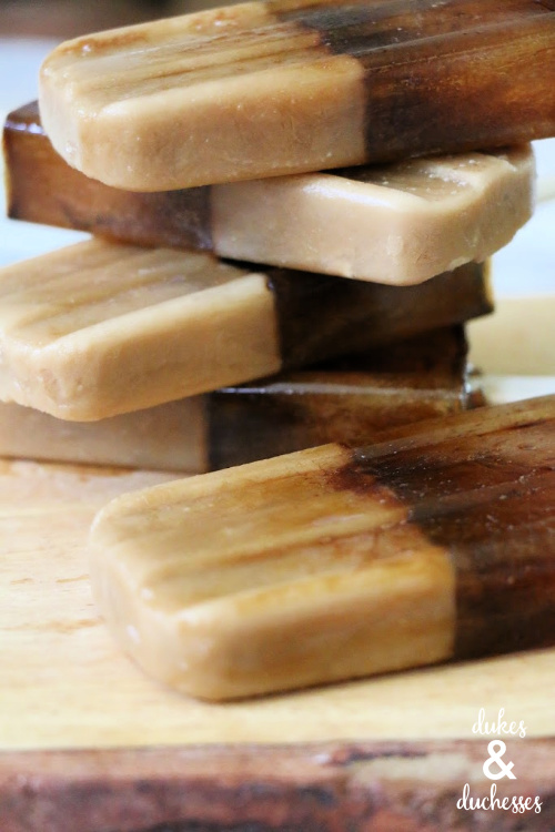 sweetened cold brew popsicles