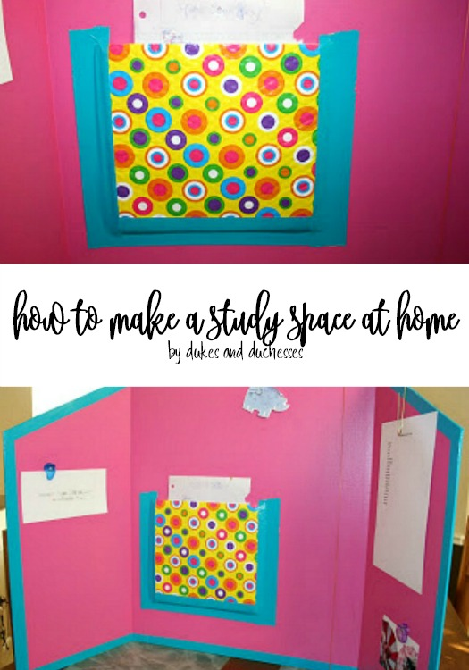 how to make a study space at home