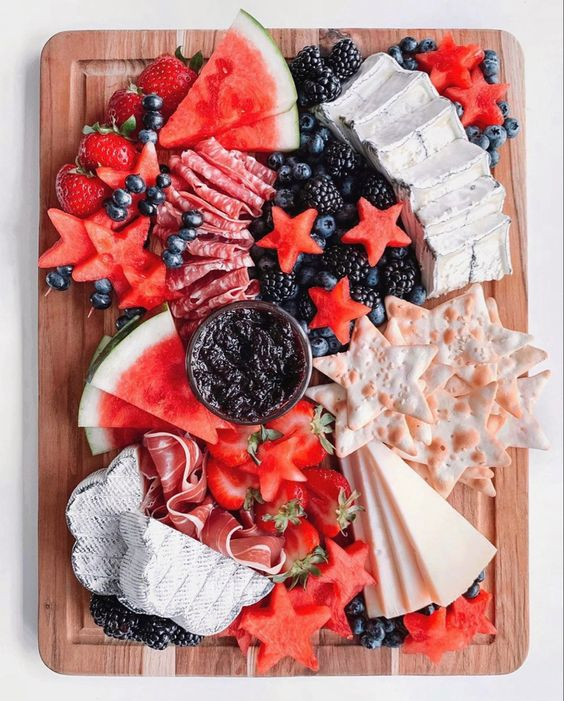 fourth of july cheese board