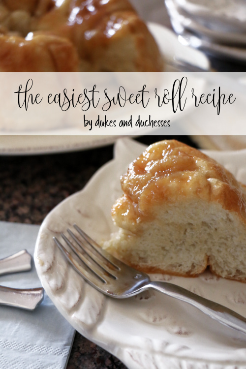 the easiest sweet roll recipe