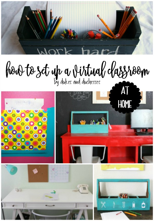how to set up a virtual classroom at home