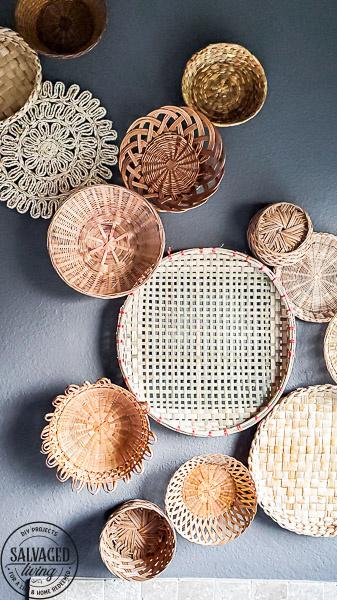 vintage basket thrift store collection