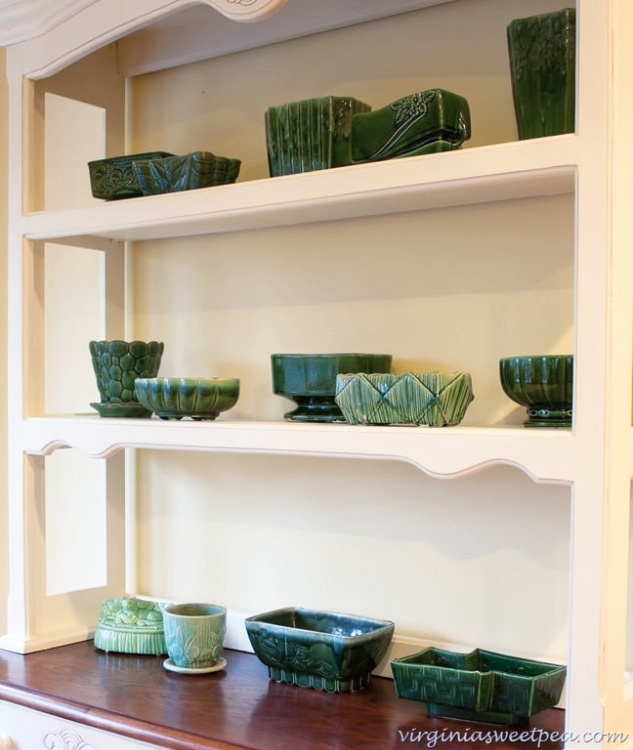 vintage green pottery collection