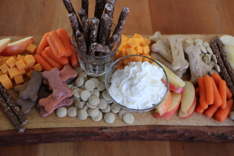 barkuterie board for dog birthday party