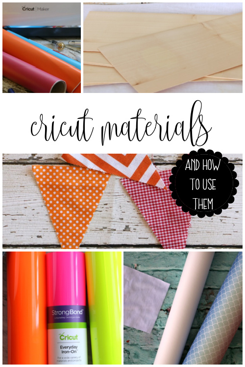 cricut materials and how to use them
