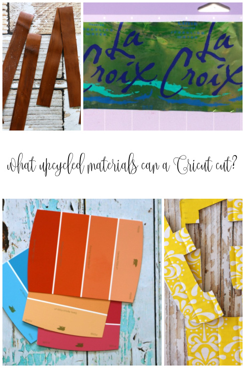 what upcycled materials can a cricut cut